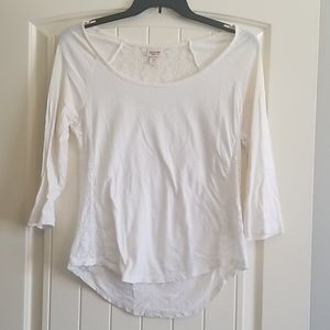 Mossimo Lace Inset Shirt